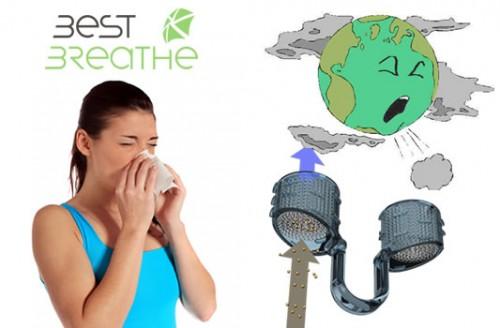 filtro nasal, alergias por culpa de la contaminacion